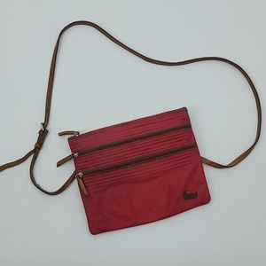 Dooney and Bourke red crossbody bag or purse